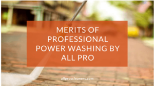 Merits of Professional Power Washing by All Pro