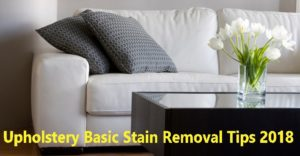 Upholstery Basic Stain Removal Tips